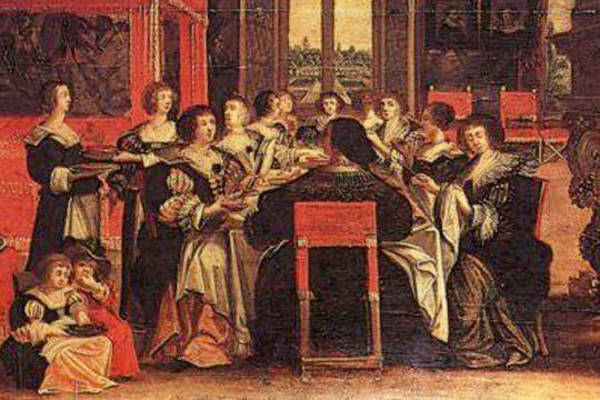 Salón de damas, por Abraham Bosse (siglo XVII) - Cine de Escritor