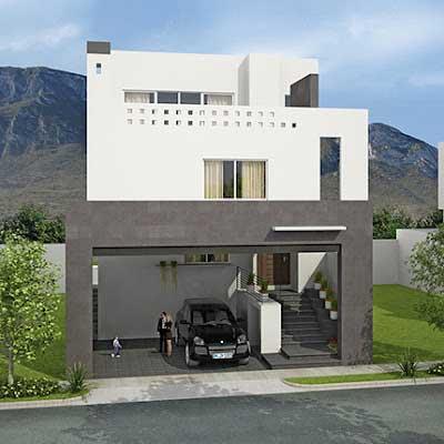Fachadas de casas estilo minimalista proyectos de casas for Estilos de viviendas