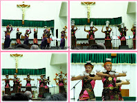 Magnificat Choir from Medan, Indonesia, performing some traditional dances
