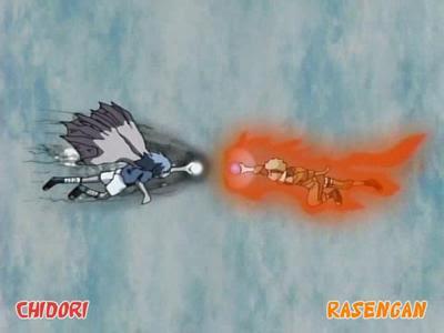 One tail Naruto VS Cursed seal mode lv2 Saske Naruto942116134