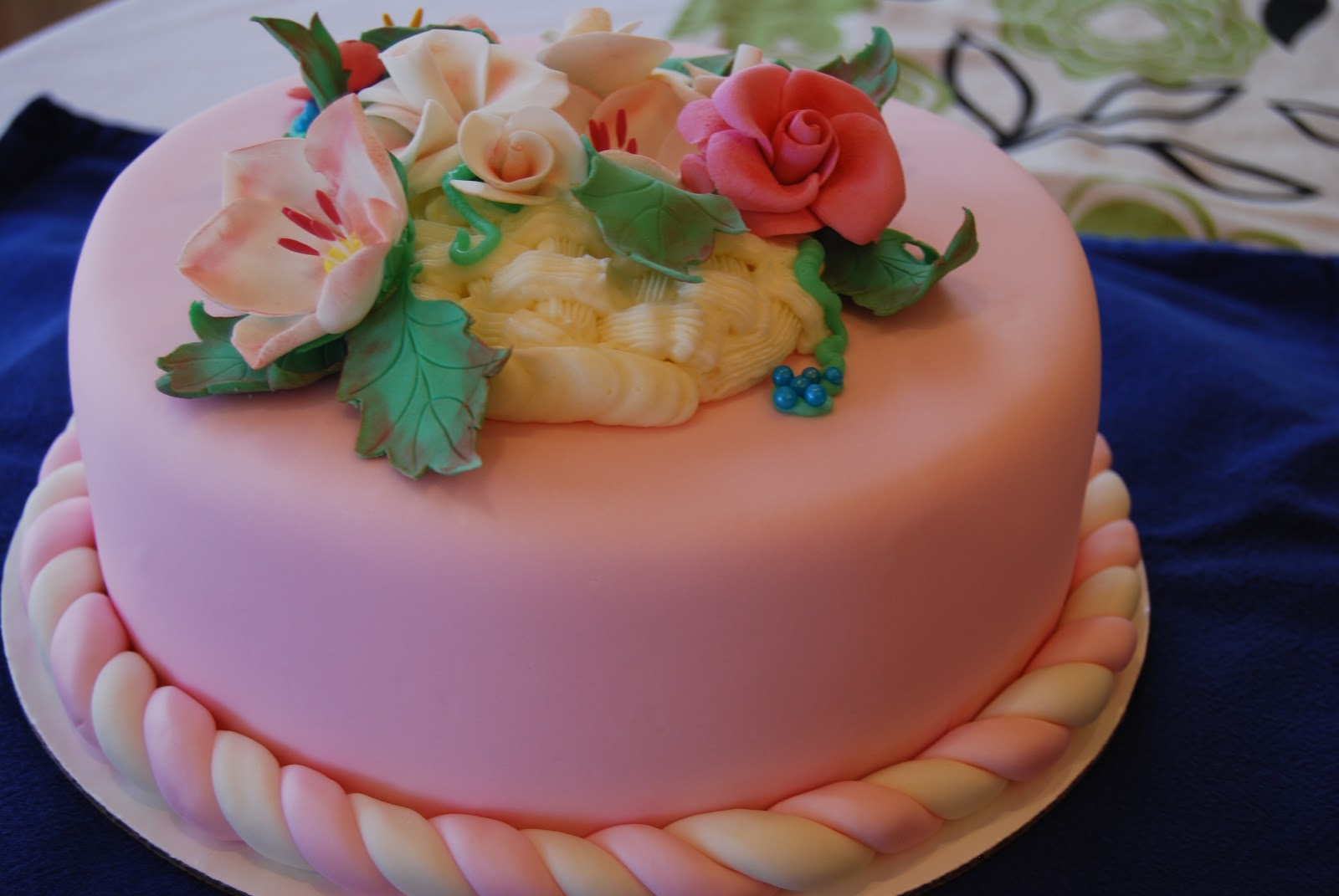 Flower Basket Mothers Day Cake : Gamma susie s this n that mother day may basket cake