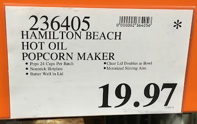 Deal for the Hamilton Beach Hot Oil Popcorn Maker 73302E at Costco