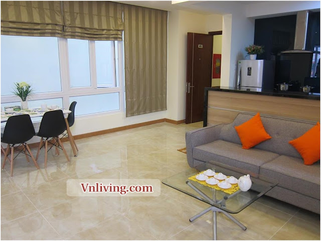 Serviced apartment for rent in Thao Dien big balcony with natural light