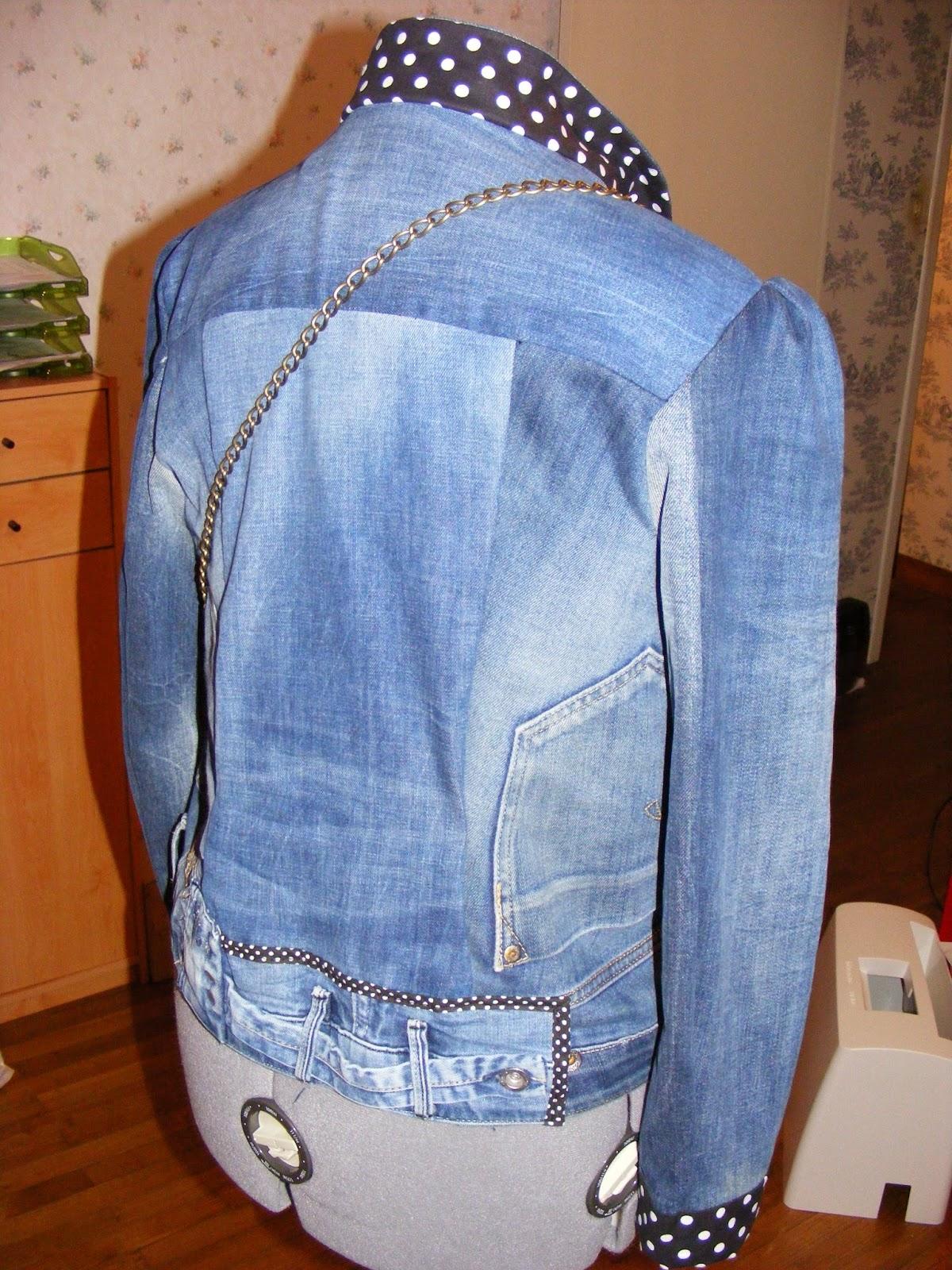 Veste Noeud Et Petit Jeans En Couture De Cours Sac Récup' qCzwvF