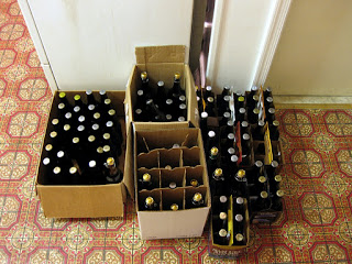 My share of the day's blending and bottling.