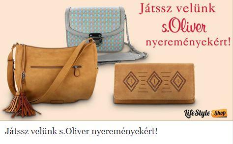 Szeretnél nyerni egy s.Oliver táskát vagy pénztárcát?