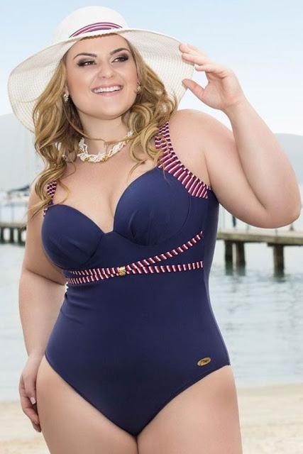 Moda praia para Mulheres Plus Size