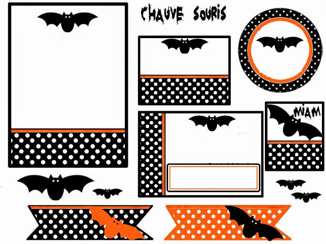 Murci lagos kit para halloween para imprimir gratis - Murcielagos halloween para imprimir ...