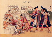 Indígenas, sacrificios humanos