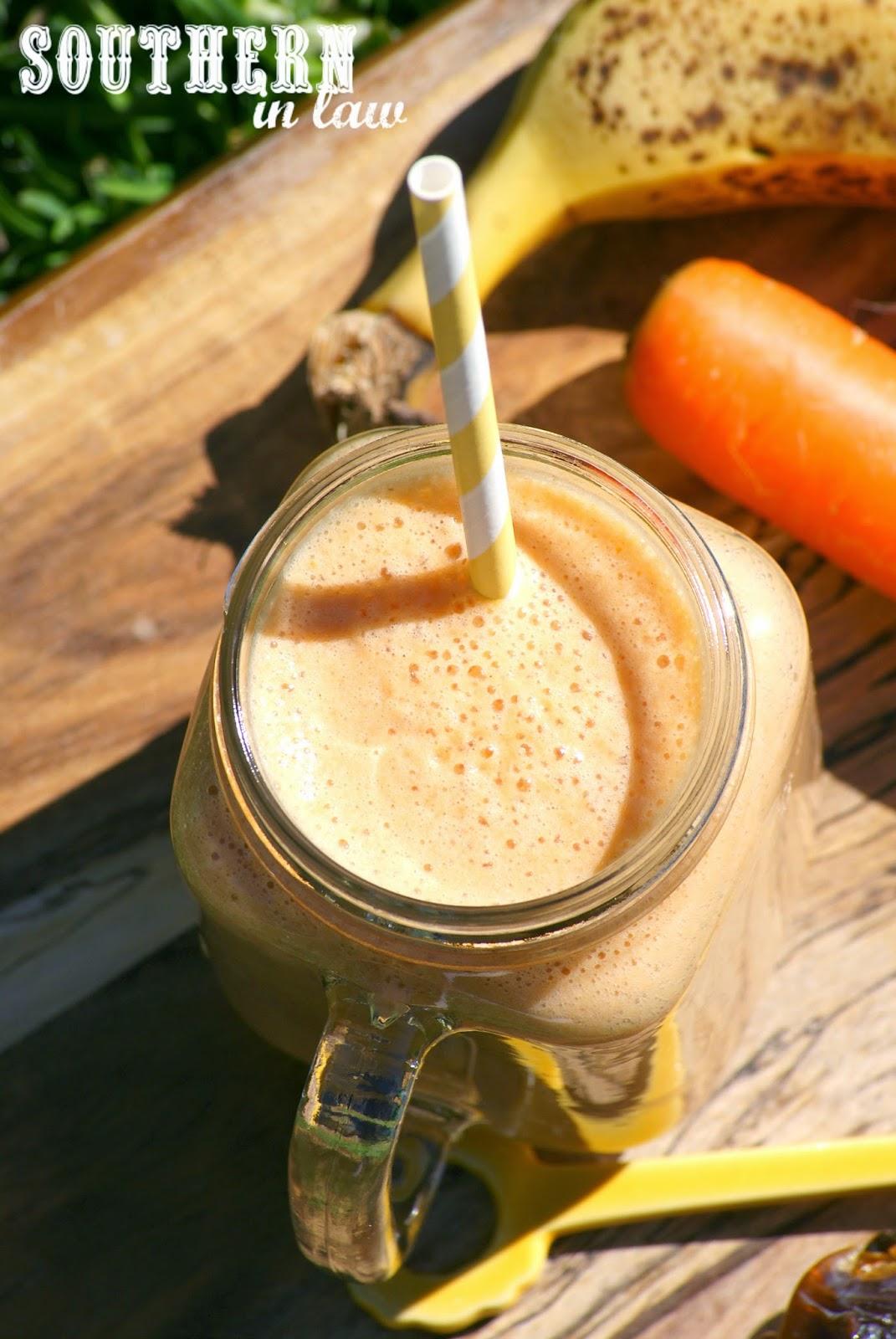 Gluten Free Carrot Cake Smoothie Recipe - low fat, gluten free, vegan, sugar free, paleo