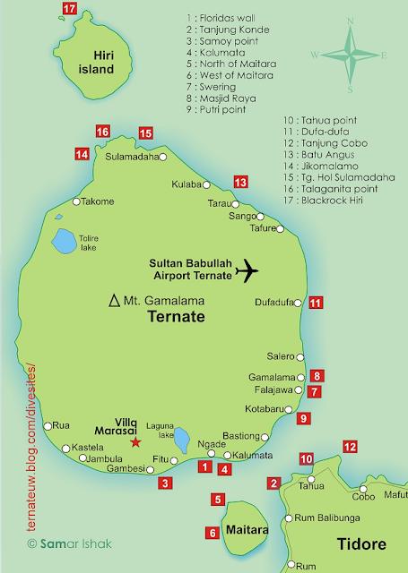 Peta Diving Pulau Ternate