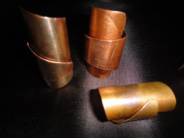 New Urbanesque Copper Rings