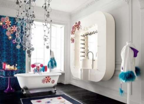 bathroom on luxury teen bedroom
