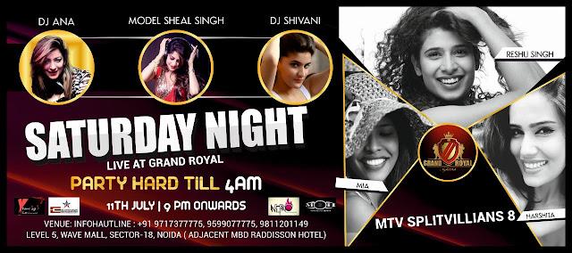 Super Saturday Night MTV Splitsvillian 8 Live at The Grand Royal Club, Noida