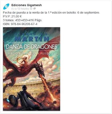 edición de bolsillo Danza de Dragones - Juego de Tronos en los siete reinos