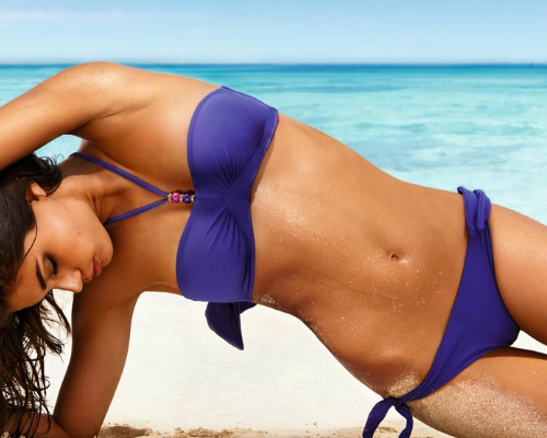 Nyakpántos Push-up mellemelős alakformáló bikini - Calzedonia Push-up bikini 2013
