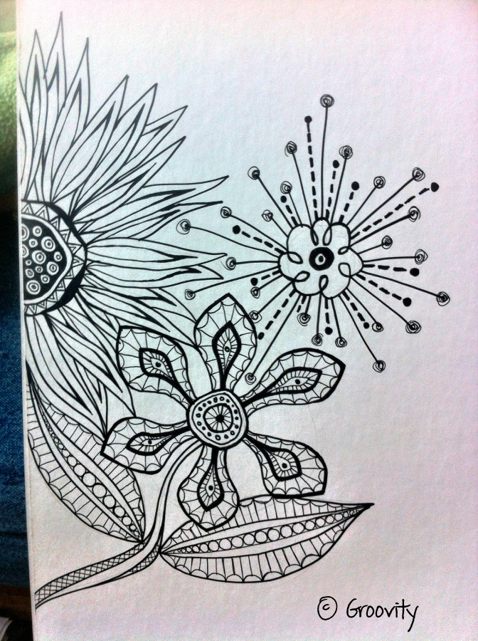 Sharpie Doodles Flowers Sharpie Doodles Flowers With