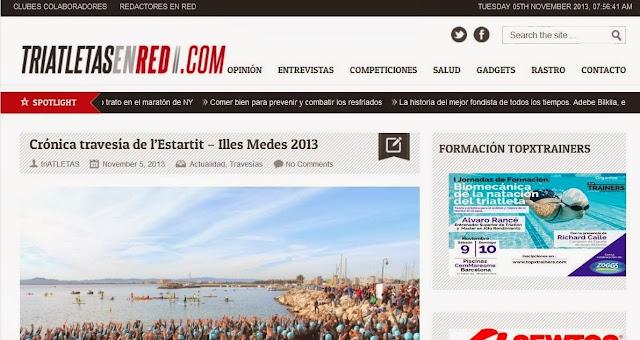 http://triatletasenred.com/actualidad/cronica-travesia-de-lestartit-illes-medes-2013/
