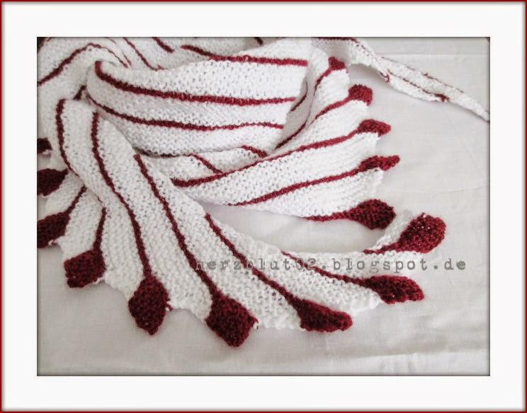 Blätter Stricken Anleitung herzblut ein diy herbstlicher schal mit roten blättern