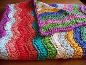 Um festival de mantas em crochet