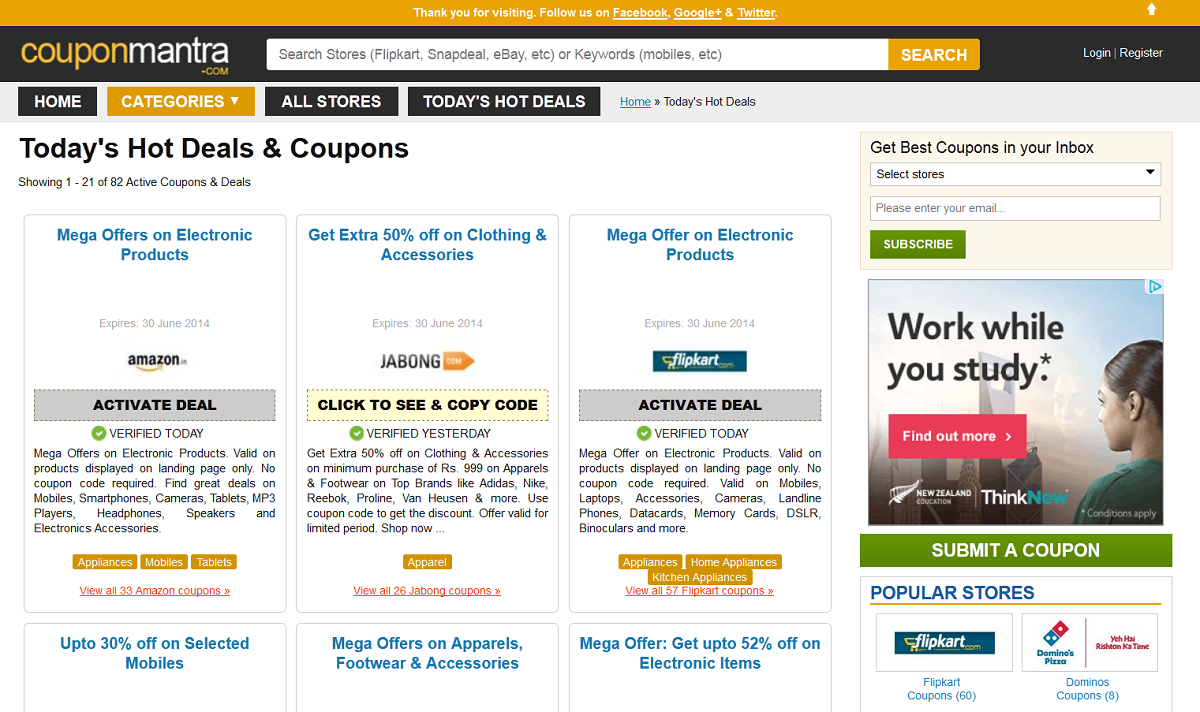 CouponMantra Online Shopping