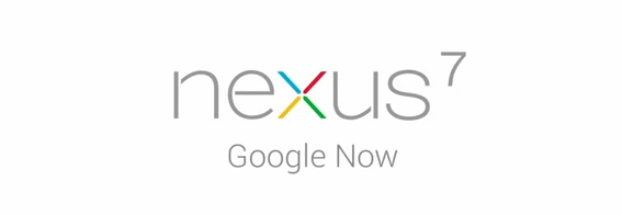 google now nexus 7