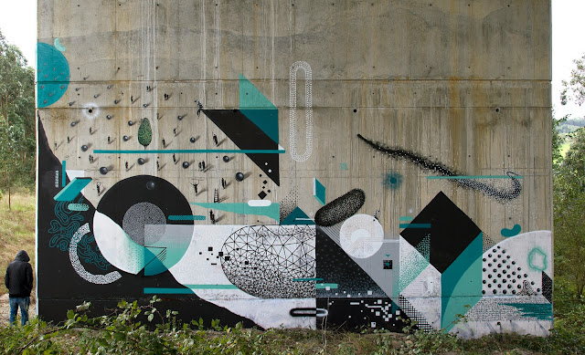 Street Art Collaborations By Xuan Alyfe And Nelio In Somao And Aviles, Spain.