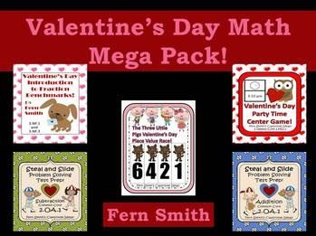 http://www.teacherspayteachers.com/Product/Valentines-Day-Math-Mega-Pack-492045