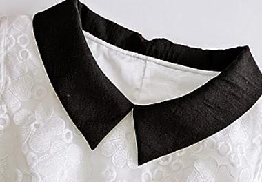 Vestido Corto sin Mangas con Cuello y Cinturon Negro