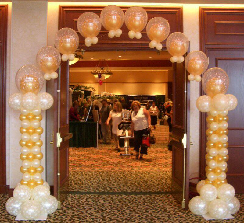 Wedding balloon arches party favors ideas for Arch balloon decoration