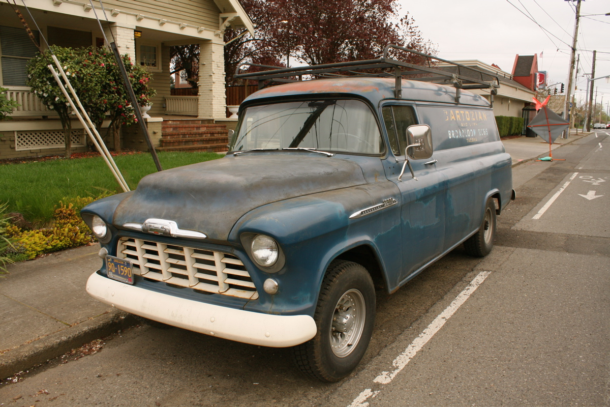 Old Parked Cars 1958 Chevrolet Suburban Panel Truck