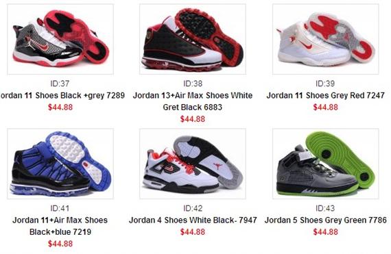 kinds of jordan shoes