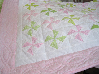Its All About the Baby and the Pinwheel Quilt - Corner House