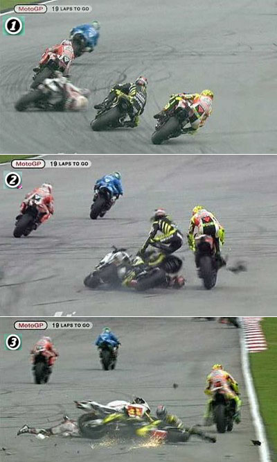Marco Simoncelli horror crash