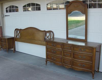 five to nine furnishings vintage french provincial king bedroom set
