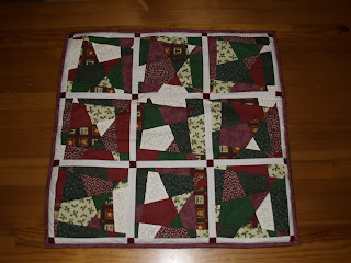 Crazy shortcut patchwork falikép