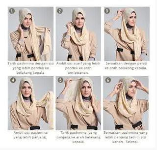 Tutorial Hijab Modern untuk Lebaran
