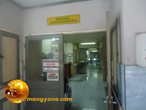Gugum dirawat di RS PTPN VIII Subang, Ruang Sangkuriang nomor Kamar 211 Kelas 2.
