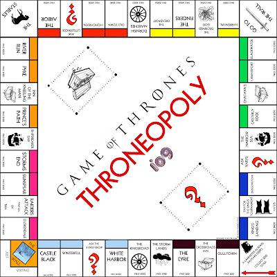Tablero del Throneopoly, el monopoly de Juego de Tronos