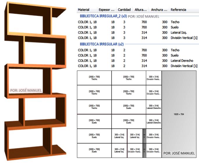 Dise o de muebles madera dise o biblioteca 2016 for Programa para crear muebles de melamina