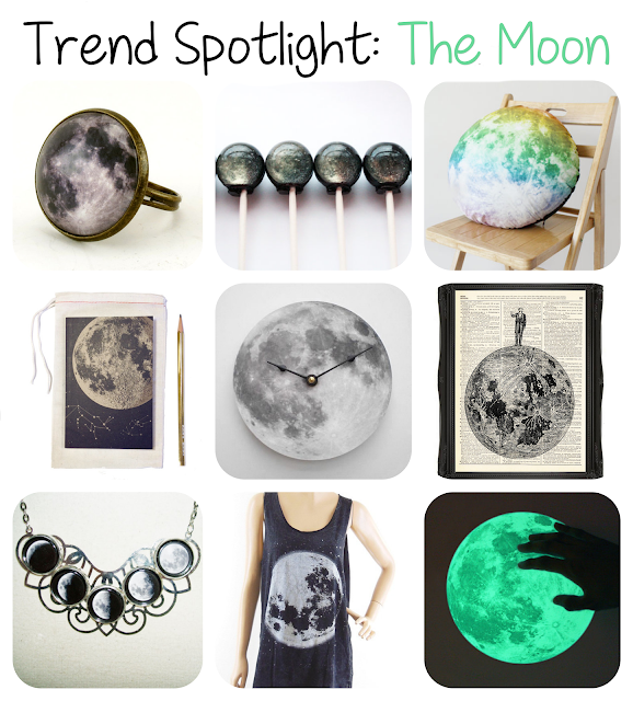 The Moon is the Trend Spotlight for this week, featuring the best 'Moon' products on Etsy!