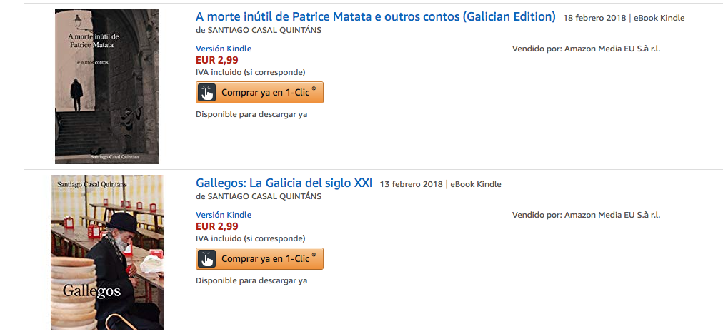 Santiago Casal en Amazon