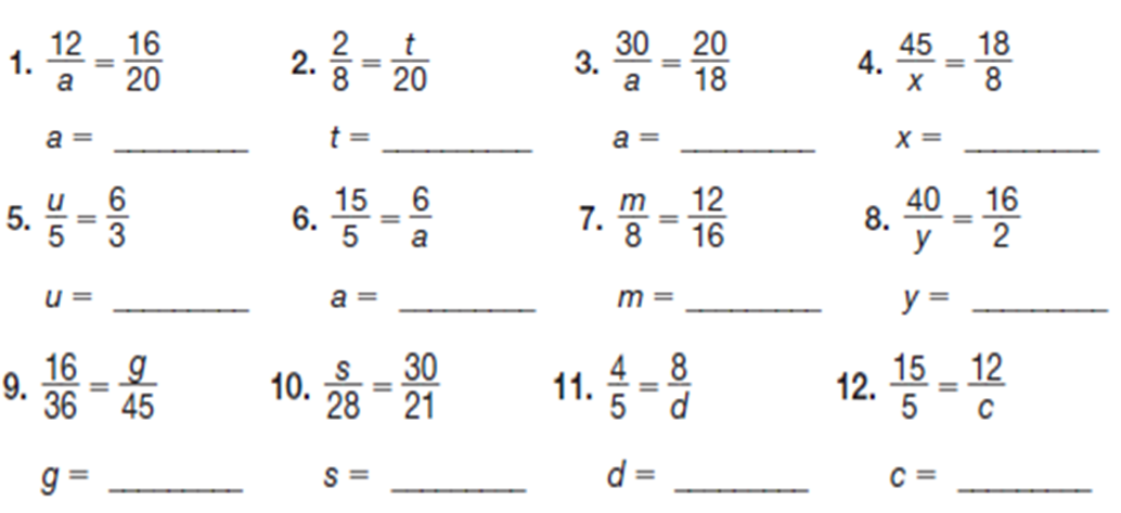 Solving Proportion Worksheets – Proportion Worksheet