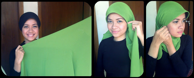 Hijabers Tutorial Sakinah : Kreasi Jilbab Paris : Cute Pink