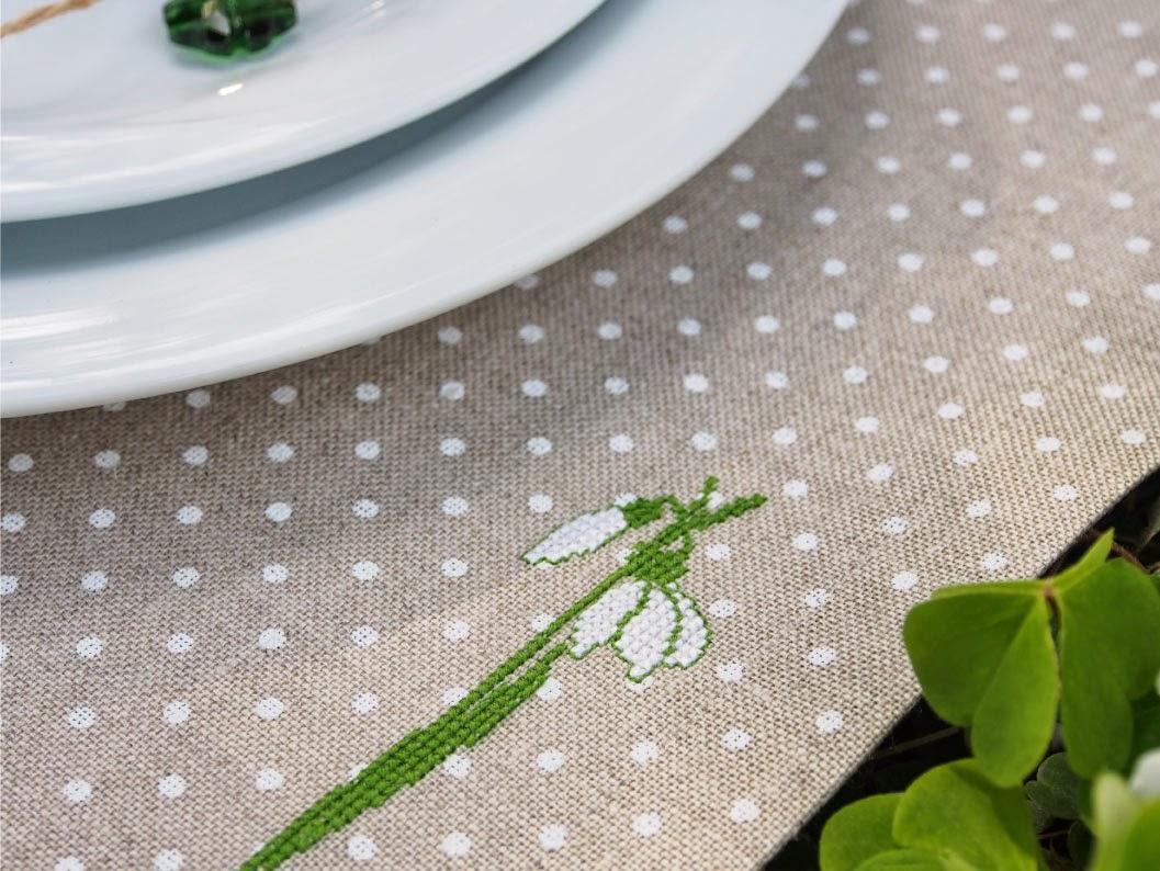 aschas stoffe Frühlings TischDekor  Spring table setting