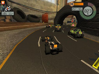 Screenshots of the LEGO: Technic Race for Android tablet, phone.