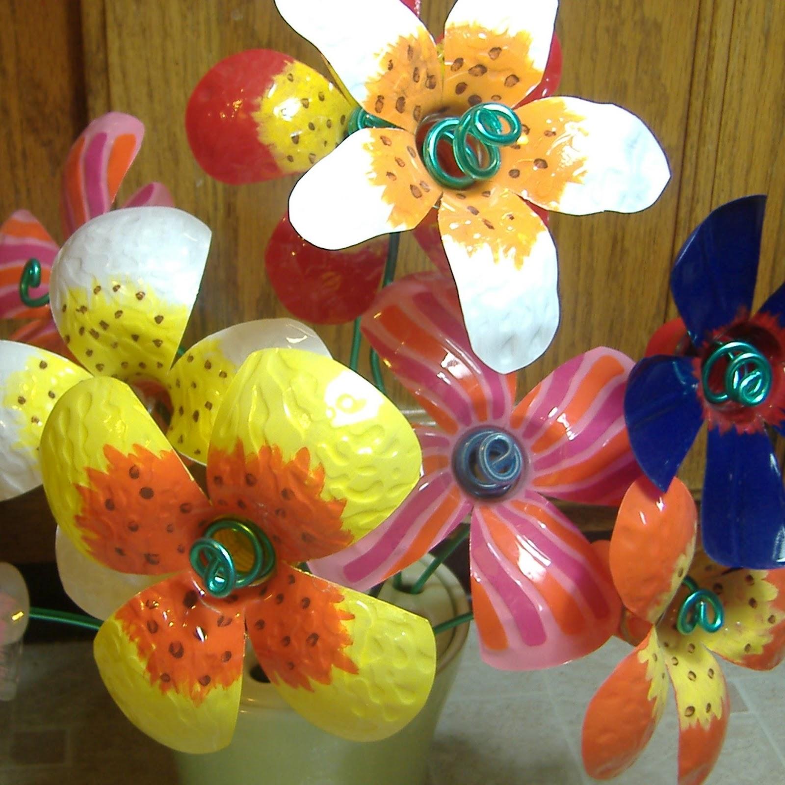 Flores Con Cds Reciclados | MEJOR CONJUNTO DE FRASES