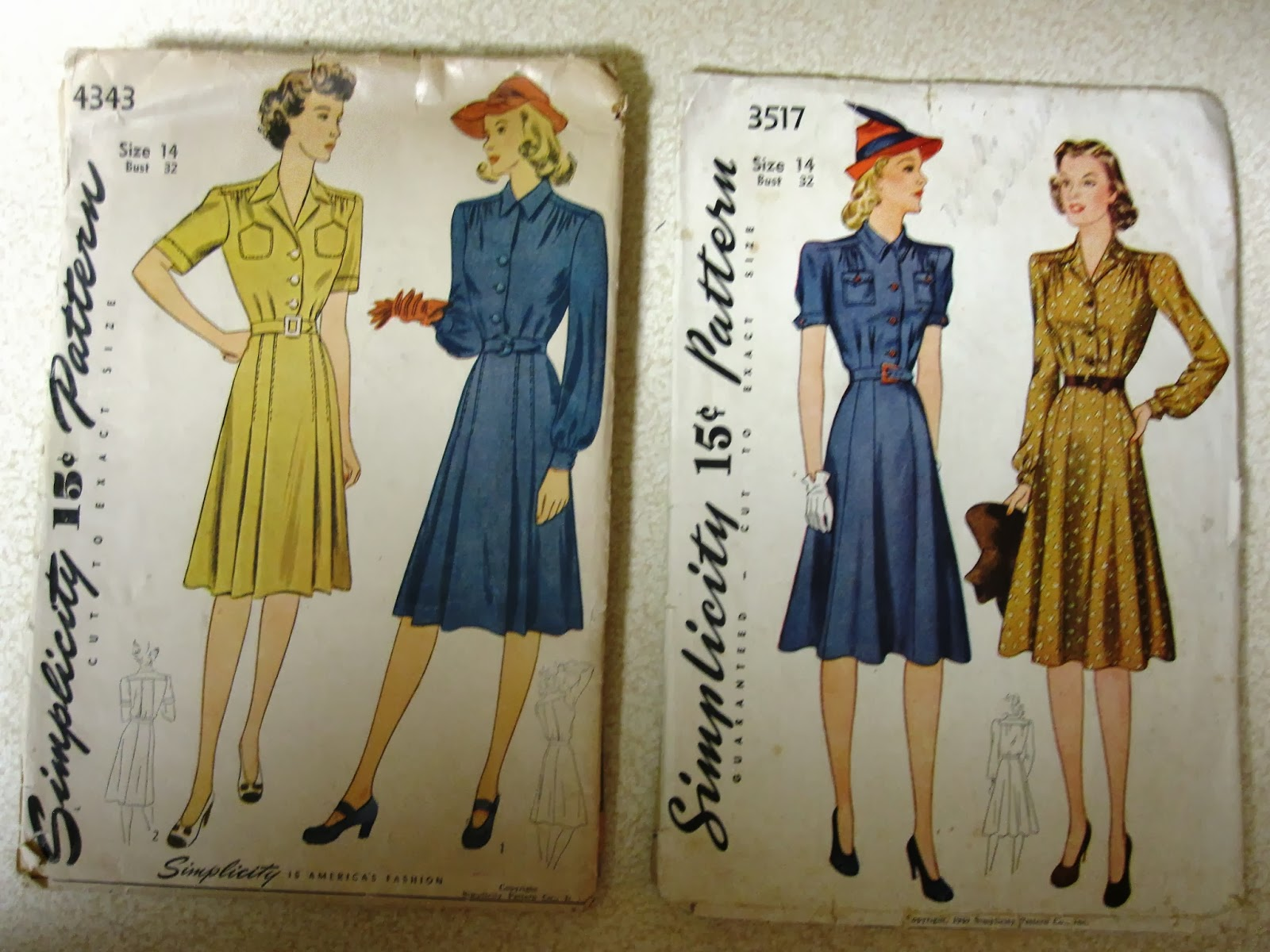 dating sewing patterns vintage