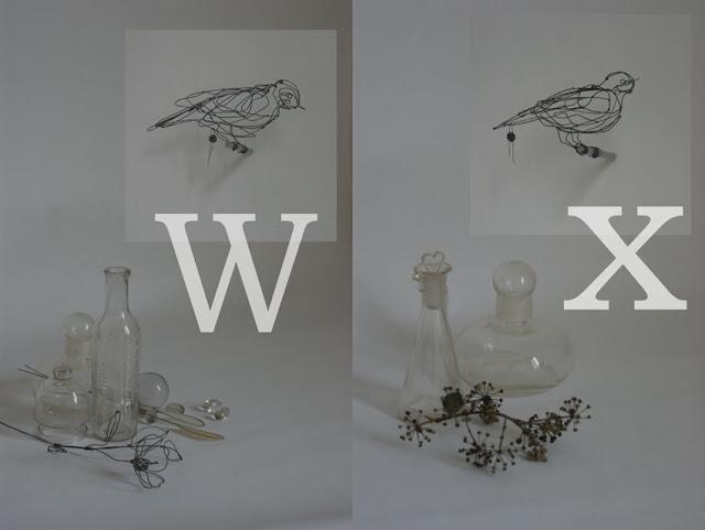 Bird W: 23 x 10 x 10,5 cm, Bird X:16,5 x 9 x 5,5cm