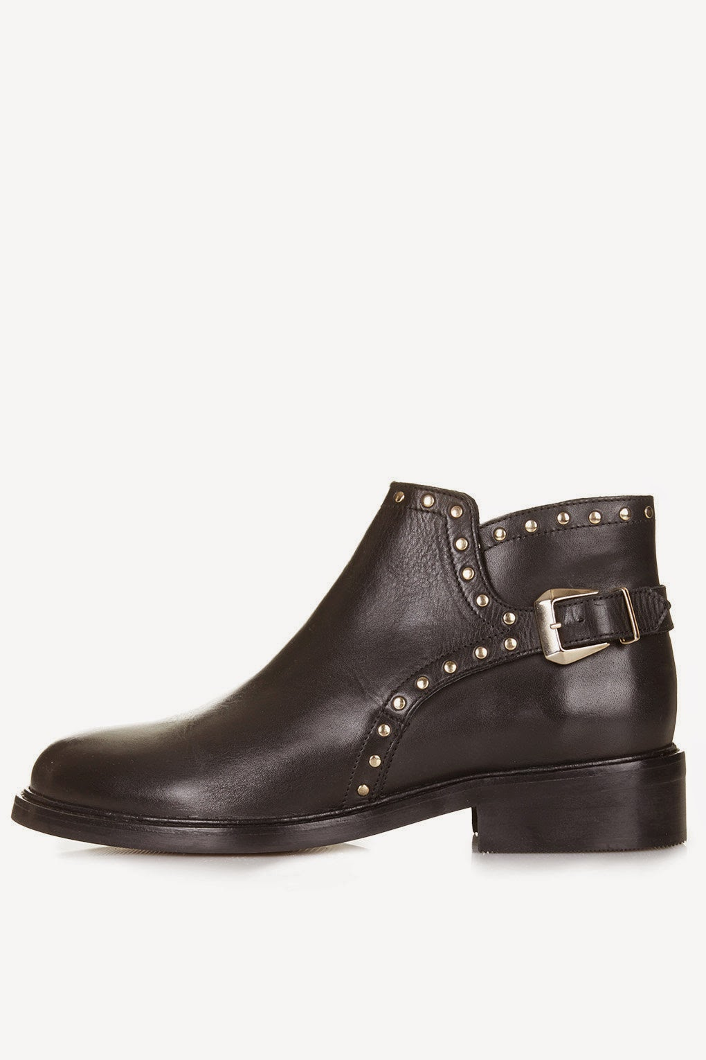 black studded ankle boots,